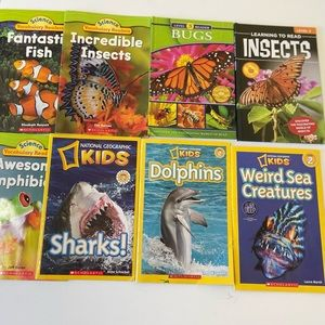 Bundle of 8 Learning Kids Books level 1-3